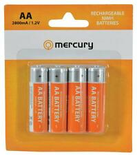 Mercury 656.126 4 Pack De 2800 Mah Alta Capacidad Pilas Aa Recargables-Nuevo