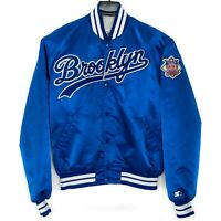 Vintage 90s BROOKLYN DODGERS Starter Cooperstown MLB Satin Bomber Jacket * L XL