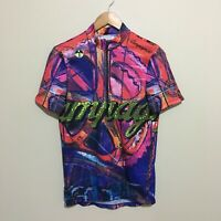 Campagnolo Giessegi Abstract Cyclist Cycling Jersey Shirt Mens Large