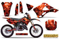 KAWASAKI KX125 KX250 99-02 GRAPHICS KIT CREATORX DECALS INFERNO RNP