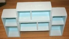 Handmade Upcycled shelf box shelves solid wood cabinet + Farrow & Ball
