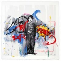 "Mr Brainwash MBW Gold Rush #/100 37""x 37"", Never Framed, In Original Tube Mailer"