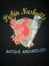 ANTIQUE ARCHAEOLOGY PICKIN NASHVILLE T SHIRT Rooster Microphone American Pickers