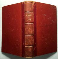 1870 LA MER BEAUTE TEMPETE BAINS DE MER DROIT MICHELET LIVRE HACHETTE SEA BOOK