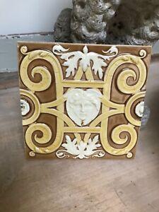 Rare Wedgwood majolica tile...Originally from spa room royal baths Harrogate