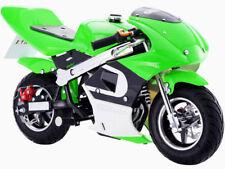 MotoTec GBmoto Gas Pocket Bike 40cc 4-Stroke Green Chain Drive