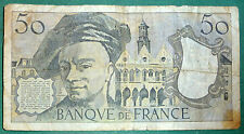 FRANCE 50 FRANCS NOTE FROM 1982 , P 152 b, QUENTIN DE LA TOUR