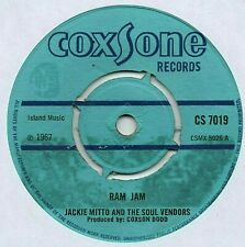 "JACKIE MITTOO - RAM JAM 7"" 45 VINYL Rare 1967 UK Coxsone Single Ska Reggae Mitto"