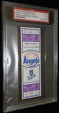 REGGIE JACKSON 9-17-1984 CALIFORNIA ANGELS 500TH HR HOME RUN FULL TICKET PSA 5