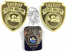 SLEEPY HOLLOW TV Series Sheriff Prop Metal Badge w/ 2 Patches - Screen Accurate