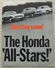 Honda todas las estrellas N360 N600 S800 COCHE FOLLETO de ventas lf 1968