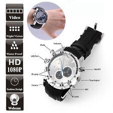 Spy Wrist Watch 1080P 16GB IR Night Vision Hidden video Camera Waterproof DVR