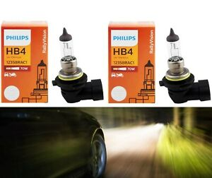 Philips Rally Vision 9006 HB4 70W Two Bulbs Head Light Low Beam Off Road Upgrade