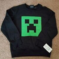 NWT Jinx Minecraft Creeper crewneck sweatshirt, size XS
