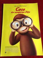 Coco Der neugierige Affe Kinoplakat Filmplakat Poster A1, Kinderfilm, Animation