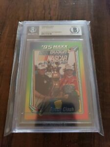Jeff Gordon Signed Auto 1995 Maxx Busch Clash Nascar Card BAS Beckett