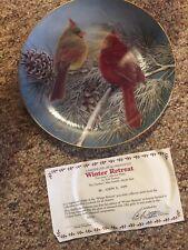 Danbury Mint Collection Of 3 Cardinal Plates