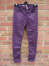TOPSHOP MOTO SUPERSOFT MAROON COLOUR SKINNY LEIGH JEANS SIZE 6 L 28""