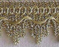 10 Yards Metallic Ribbon Trim. Light Gold Victorian Design DIY