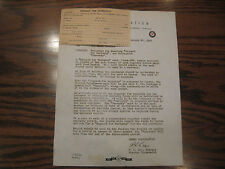VINTAGE 1948 OLMER CASH REGISTER ORIGINAL WARRANTY REGESTRATION CARD AND LETTER