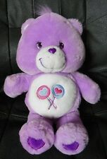 "2003 Care Bears Purple Bear Lollipops 12"" Plush Stuffed Animal"