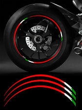 12 X FILETS JANTE 17' DUCATI ITALIE RACING MOTO-GP AUTOCOLLANT STICKER RA085