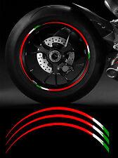 12 X FILETS JANTE 17' DUCATI ITALIE RACING MOTO-GP AUTOCOLLANT STICKER RA085