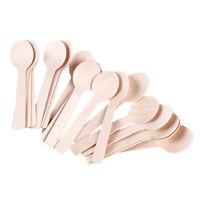 Disposable Mini Ice Cream Spoon Wood Dessert Scoop Wooden Spoon Tableware J