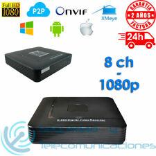GRABADOR IP NVR 8 CH 1080p FULL HD CCTV DVR 720p ONVIF H264 P2P XMEYE