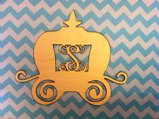 "24"" Wooden Vine Font Princess Carriage Letter Unfinished wood Room Decor Custom"