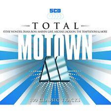 VARIOUS ARTISTS - TOTAL MOTOWN - 100 CLASSIC TRACKS: 5CD ALBUM BOX SET (2014)