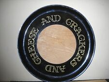 "70's Couroc of Monterey ""Cheeseboard"" cheese and crackers tray, cutting board"
