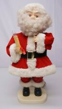 "Vintage Santas Best 25"" Animated Collectible Santa Claus W/ Light Up Candle"