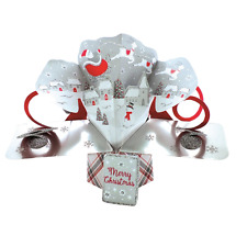 Santa Sleigh Petite Christmas Pop-Up Greeting Card Second Nature 3D Pop Up Cards