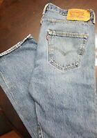 Vintage Levi's 501 Distressed Denim Jeans Medium Wash 34 x 30