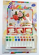 Watercolours Painting by numbers Older kit made in UK. rises flowers