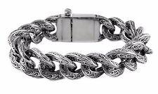 Men's Fancy Stainless Steel Chain Link Motorcycle Bracelet USA Seller!