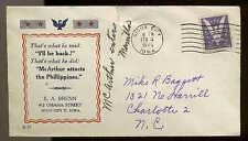 1945 WW2 PATRIOTIC SHERMAN  #7371 BRENN PUBLISHER LIBERATION OF MANILA
