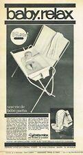 E- Publicité Advertising 1965 Puericulture Baignoire bébé Baby Relax