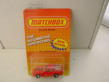 1987 MATCHBOX SUPERFAST MB 71 RED PORSCHE 944 TURBO NEW ON CARD