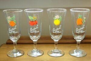 4 Vintage Britvic Glasses