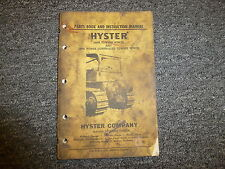 Hyster D89A Towing Winch & Power Controlled Winch Parts Catalog & Owner Manual