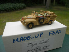 "VEHICULE MILITAIRE 1/43 HART SMITH MAYES MODELS "" ALEXANDER'S STAFF CAR ""   MIB"