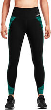 2XU Fitness Hi Rise Womens Training Tights Black Mild Compression Gym Workout