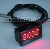 Digital Red LED -55-125°C Car Temperature Meter Thermometer DS18B20 Sensor F/C