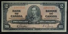 BANK OF CANADA - 1937 $2 Note - C/B - Signed Gordon & Towers - NCC