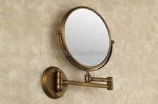 Antique Brass Beauty Makeup Cosmetic Double-Sided Magnifying Mirror yba627