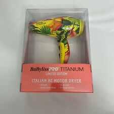 Babyliss Pro Titanium Limited Edition Italian AC Motor Dryer Hair Dryer Tropical