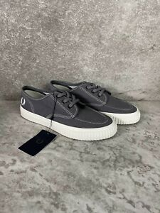2020 Fred Perry B5183 - A19 Authentic Shoes Canvas Grey US 5 EU 37