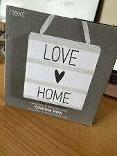 Next Cinema Light Box - Personalised Messages - Brand New Sealed